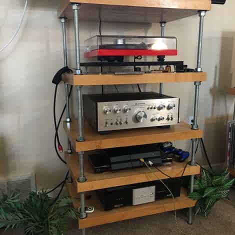 Stereo Squares Hard Maple Audio Rack
