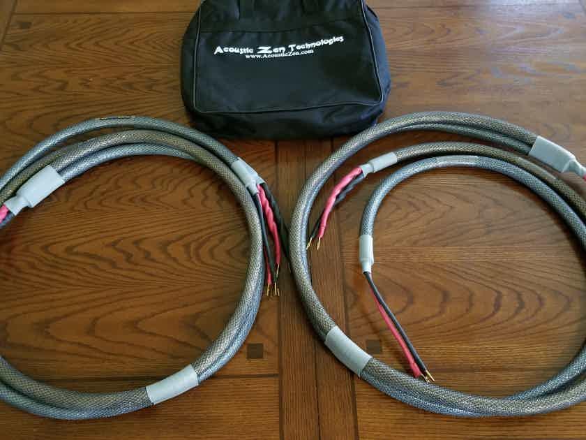 Acoustic Zen - Double Barrel Shotgun Bi-Wire Speaker Cable Set - 8ft pair
