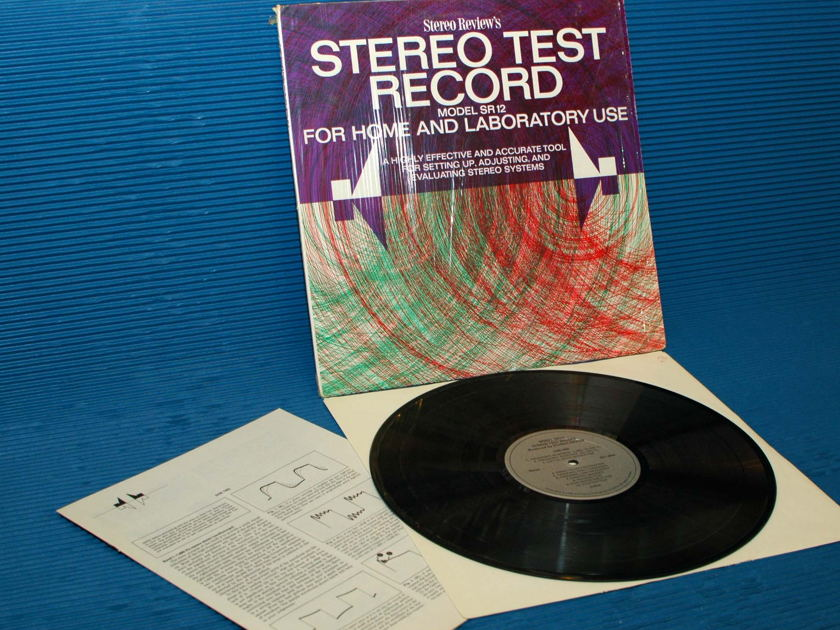 """STEREO REVIEW  - """"Stereo Test Record"""" - Model SR-12  1969"""