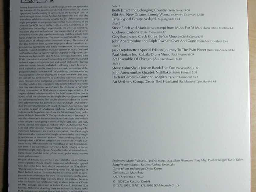 ECM Records Promo Sampler Double LP - Music With 58 Musicians, Volume One - 1980 ECM Records PRO-A-850