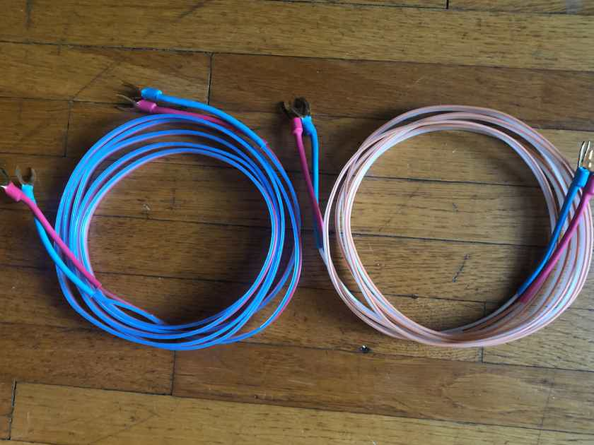 """DNM Reson Solid Core Speaker Cables - 2.5 Meter (100"""") L-R matched pair, spades"""