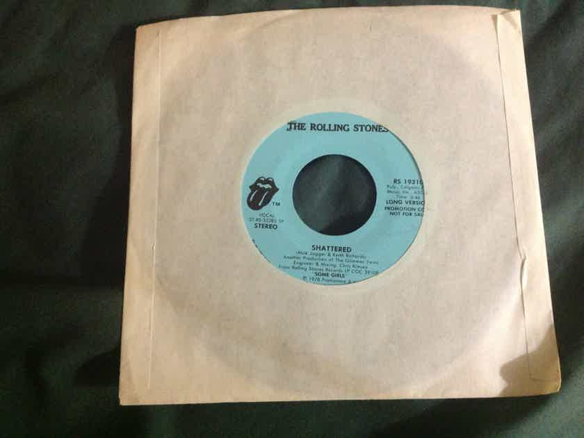 Rolling Stones - Shattered Rolling Stones Records Promo Single 45 Long/Short Version