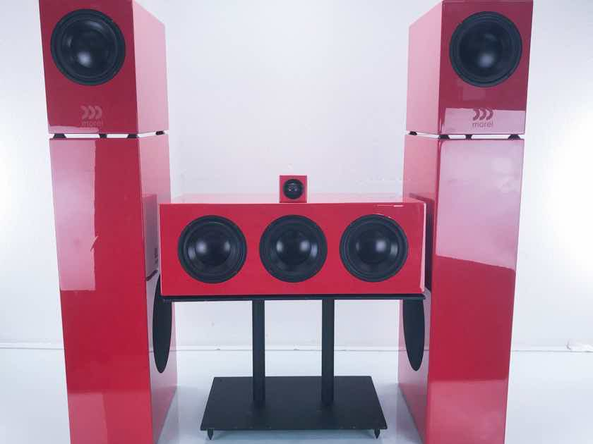 Morel Octave 5.2M 5 Speaker Surround System Ferrari Red Set (13770)