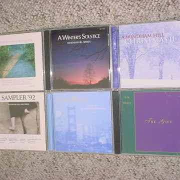 WINDHAM HILL JAZZ CD lot of 6 cd's Liz Story Vince Guaraldi Sampler 84 & 92 more