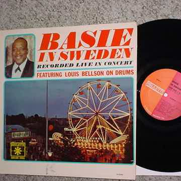 Count Basie in Sweden lp record live in concert featuring Louis Bellson see add