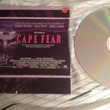 Robert DeNiro Nick Nolte  Cape Fear Letterbox Laserdisc