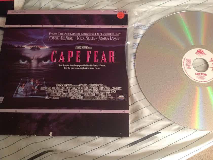 Robert DeNiro Nick Nolte  Cape Fear Letterbox Laserdisc
