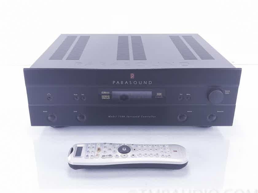 Parasound  7100  Preamplifier / Processor; Remote (10460)