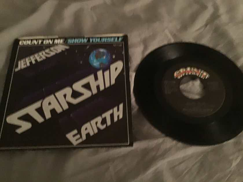 Jefferson Starship  Count On Me 45 With Picture Sleeve Vinyl NM