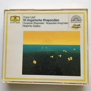 Franz Liszt Roberto Szidon  19 ungarische Rhapsodien Cd set deutsche Grammophon
