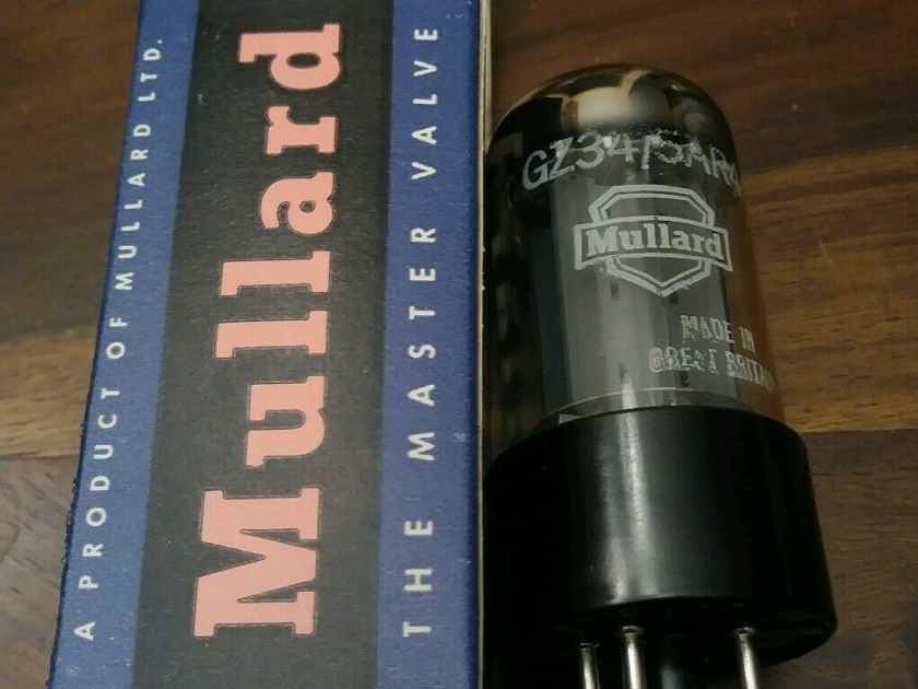 2 new in the box matched rare fat base mullard gz34/ 5ar4 rectifier tubes