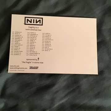 Nine Inch Nails Fragility V 2.0 Promo Tour Postcard