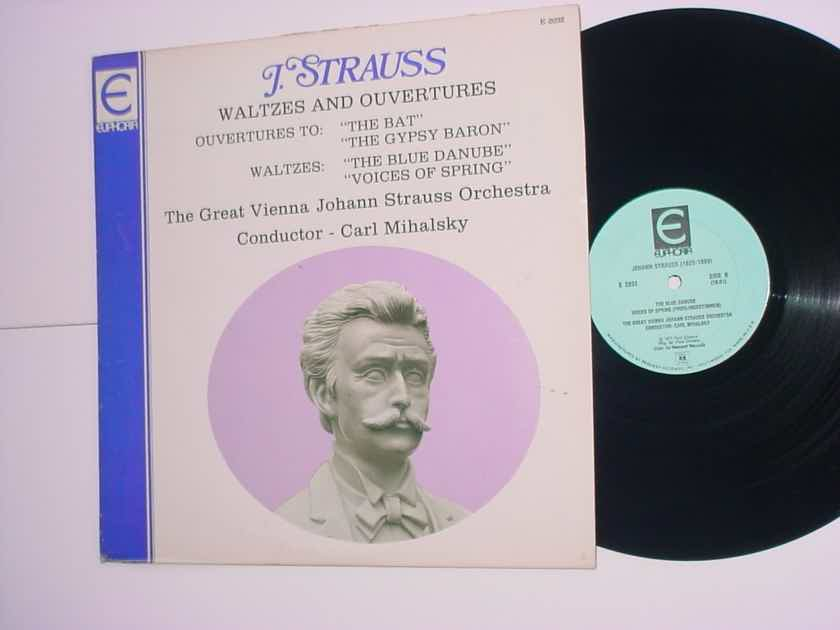 EUPHORIA E-2032 Classical lp record Carl Mihalsky Johann Strauss waltzes and ouvertures