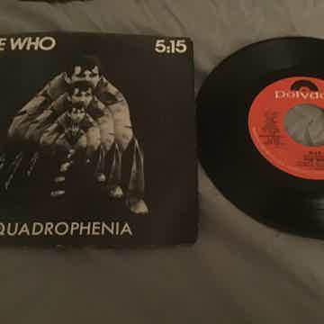 The Who 45 With Picture Sleeve Vinyl NM  5:15/I'm One