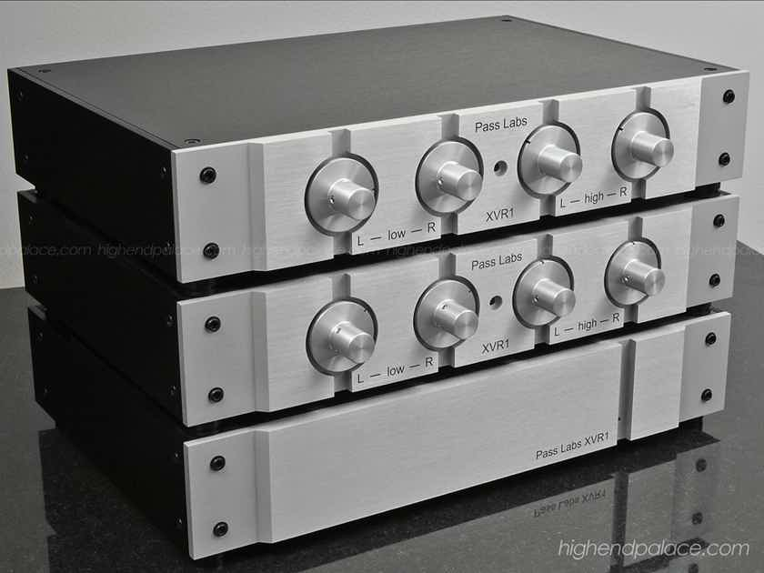 PASS LABS XRV-1 3 Way Reference Active Crossover with BAT VK-6200 Six Mono Channels Mega Amplifier