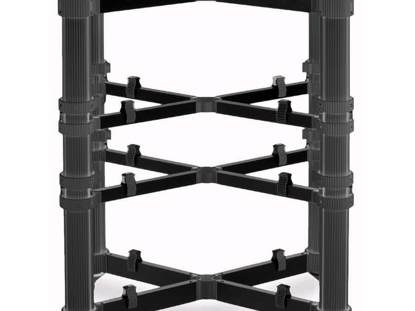 Solid Tech Rack of Silence Reference 4 Audio Rack (Black/Black): Open Box; Full Warranty; 28% Off; Free Shipping