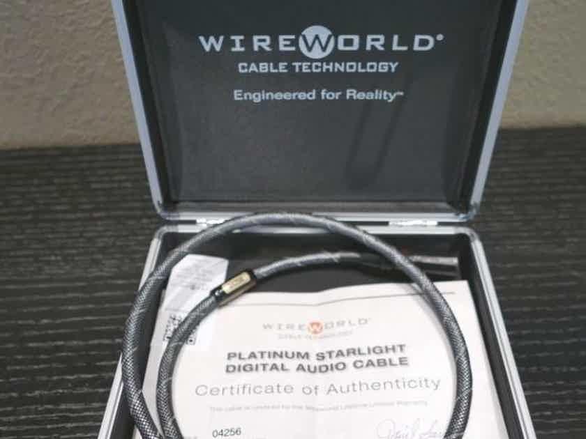 Wireworld Platinum Starlight Balanced XLR AES/EBU Digital Cable 1m Excellent