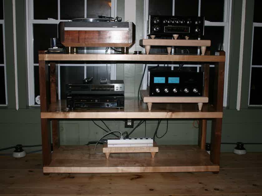 Custom Wood Racks & Stands 3 Shelf Rack