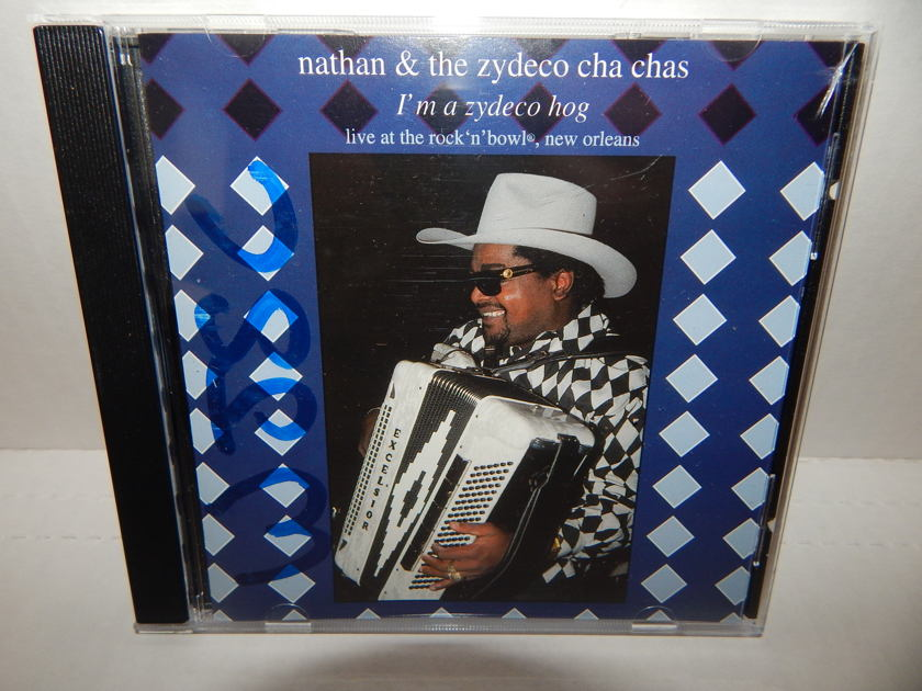 NATHAN & THE ZYDECO CHA CHAS - I'm A Zydeco Hog LIVE Rock N Bowl New Orleans '97 Rounder Cajun CD