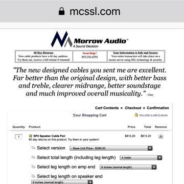 Morrow Audio Sp4