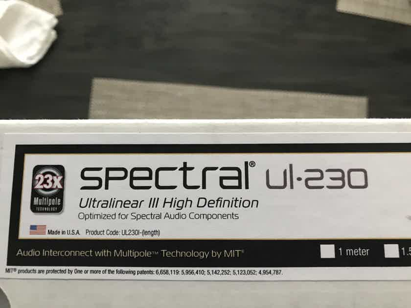 MIT  Spectral Ultralinear UL-230 Ultralinear III 5M Pair RCA Cables