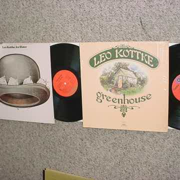 Leo Kottke 2 lp records greenhouse and ice water SEE ADD
