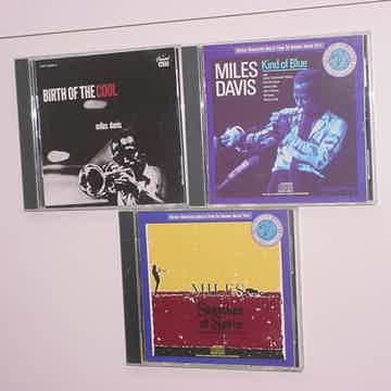 Miles Davis lot of 3 cd's jazz