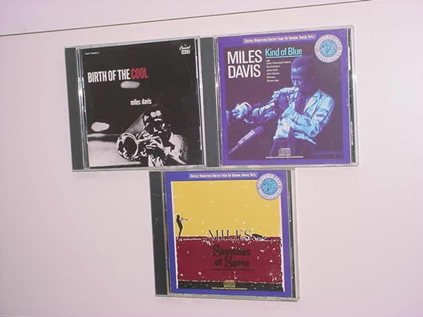 Miles Davis lot of 3 cd's jazz