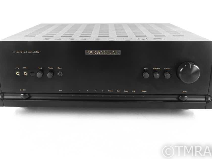 Parasound Halo Integrated 2.1 Channel Amplifier; Black; Remote; MM / MC Phono (21019)