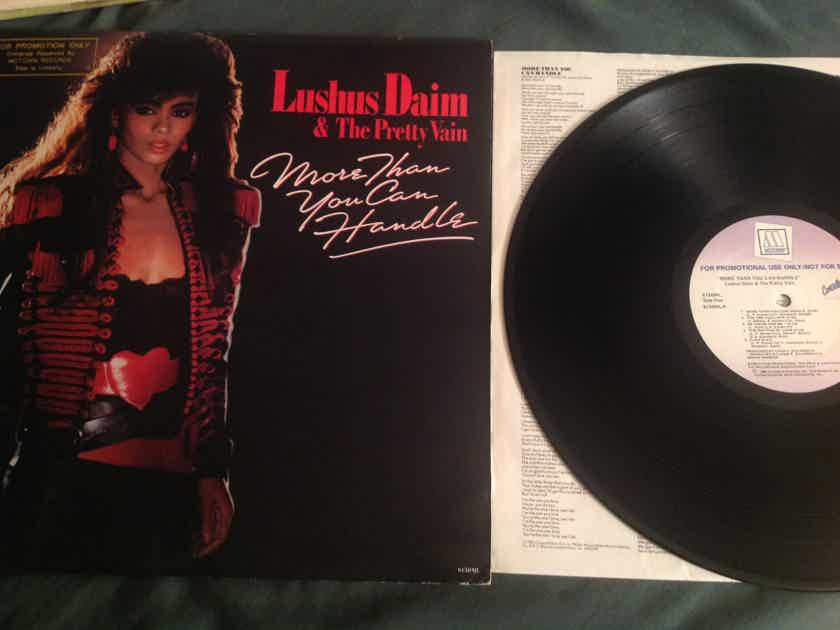 Lushus Dain & The Pretty Vain More Than You Can Handle Motown Conceited Rec Promo LP
