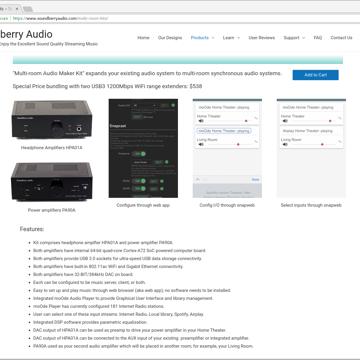Soundberry Auido Multi-room Audio Maker Kit