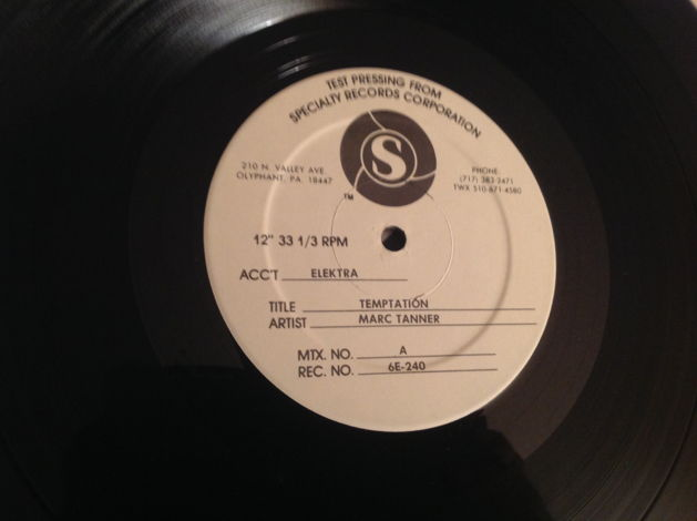 Marc Tanner Elektra Records Test Pressing