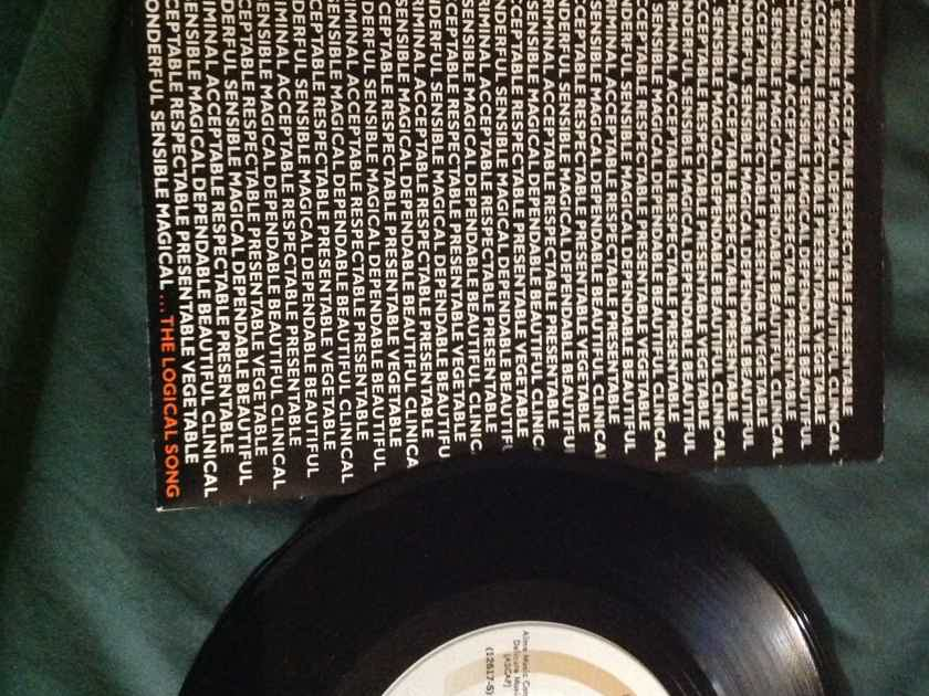 Supertramp - The Logical Song/Just Another Nervous Wreck A & M Records 45 Single With Picture Sleeve Vinyl NM