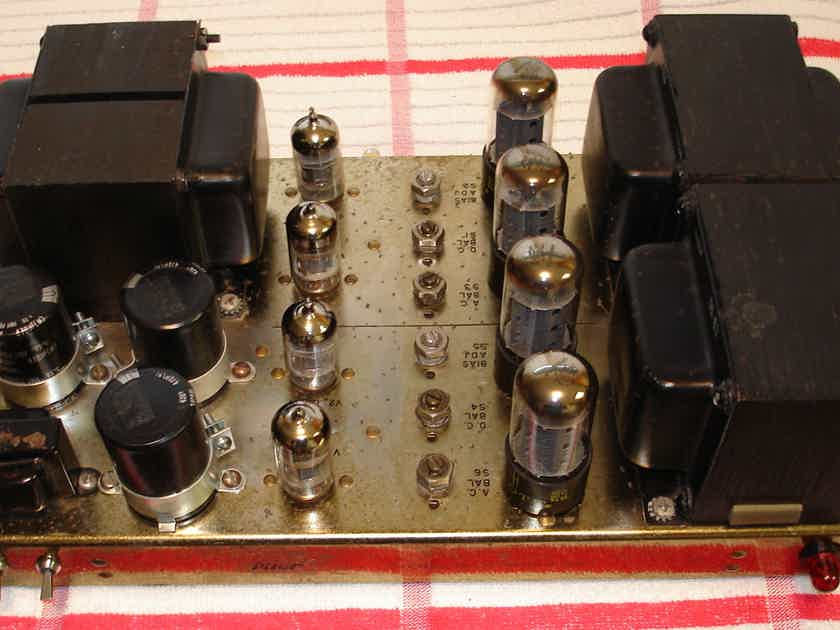 Pilot 264 stereo power amp, recapped, standby switch, cage
