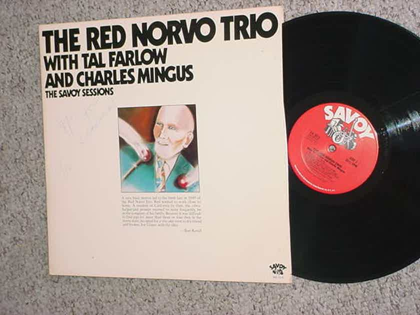 The Red Norvo Trio - double lp record with Tal Farlow Charles Mingus Savoy Sessions SEE ADD WOC