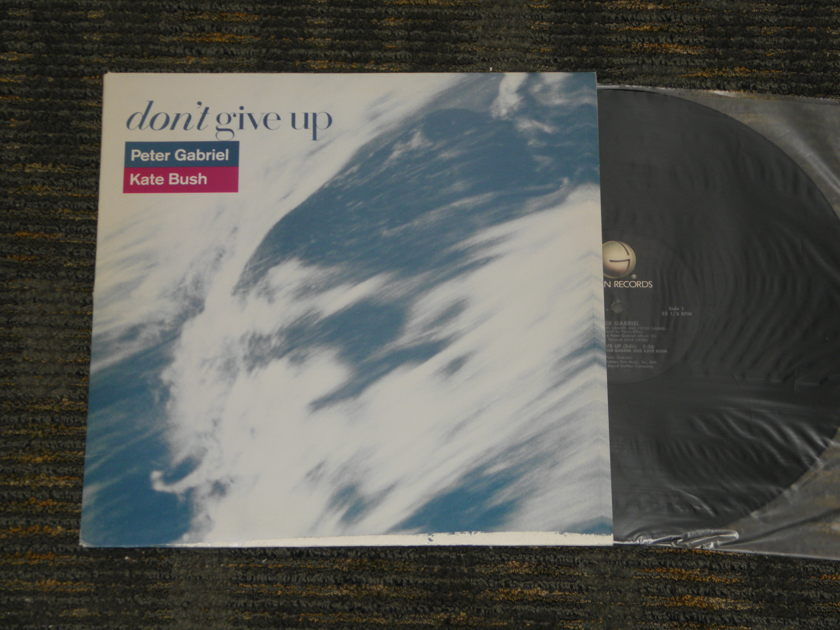 "Peter Gabriel/Kate Bush - ""Dont Give Up"" 2 versions Geffen PRO A -2689 12"" single"