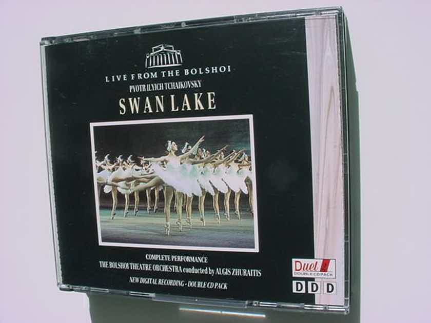 2 cd set Live from the Bolshoi - Pyotr Hyich Tchaikovsky Swan Lake complete performance 1990