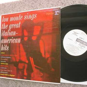 PROMO LOU MONTE LP Record the great Italian American hits