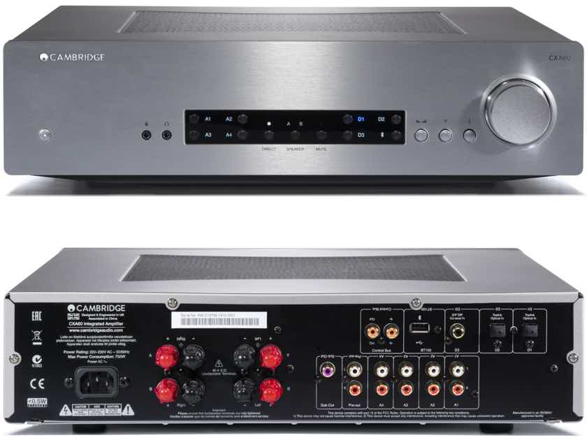 CAMBRIDGE AUDIO CXA60 Integrated Amplifier (Silver): NEW-In-Box; w/Warranty; 30% Off