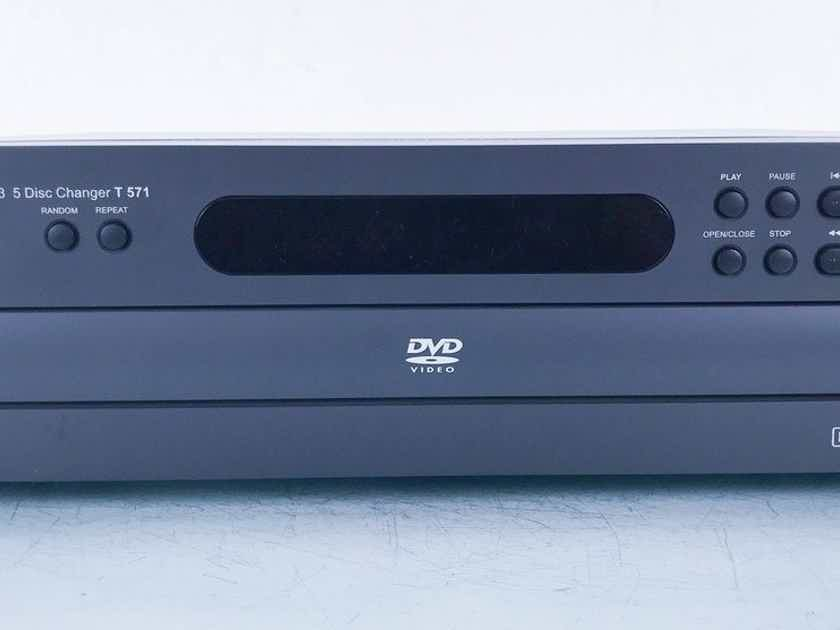 NAD T-571 5 Disk DVD / CD Changer T571; Remote (15214)