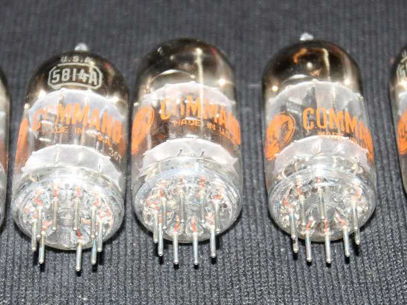 2 excellent new in the box rca black plate command 5814a/ premium 10000 hour 12au7 tubes