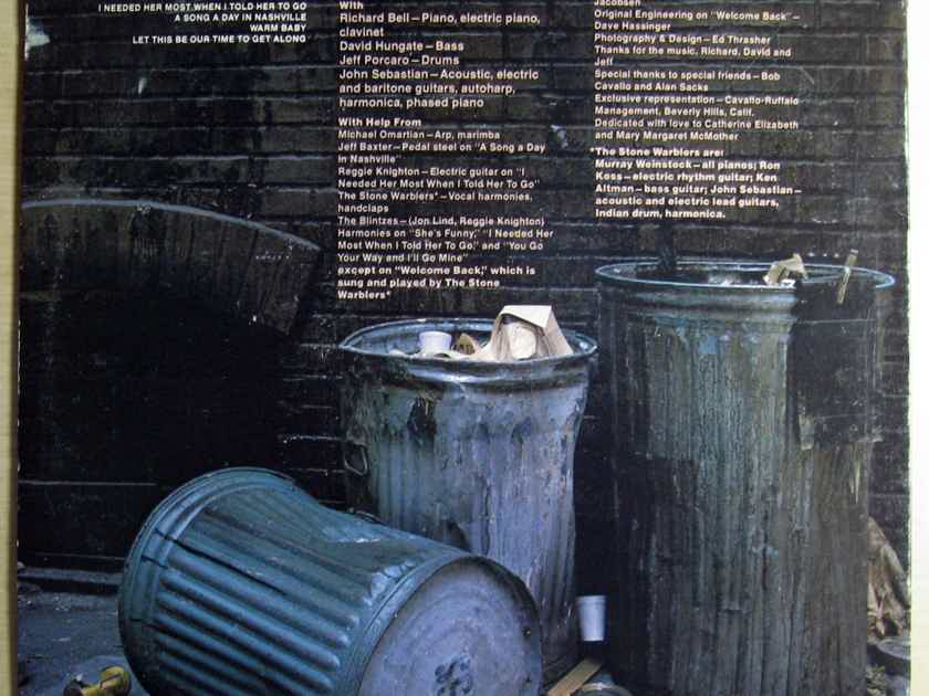 John Sebastian - Welcome Back - 1976 Reprise Records MS 2249