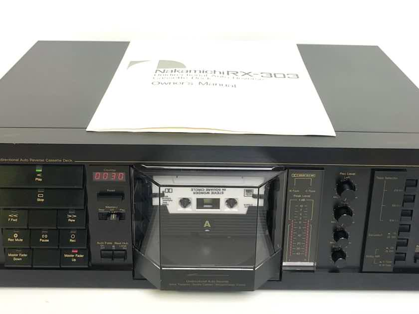 Nakamichi RX 303 Unidirectional Auto Reverse Single Stereo Cassette Deck Player Recorder SERVICED!!!