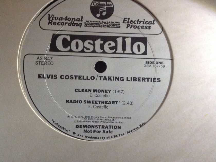 Elvis Costello  - Taking Liberties Columbia Records Promo 12 Inch Vinyl  EP NM