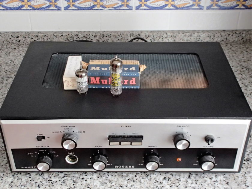 Rogers HG88 MKIII With two NOS tubes (ECC807 Brimar and ECL86 Mullard).
