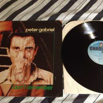 Peter Gabriel - I Don't Remember  Charisma Records Cana...