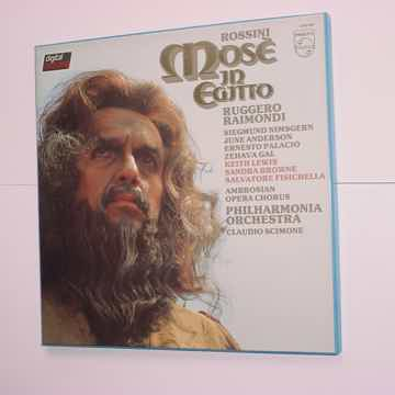 Rossini Mose in Egitto Scimone 3 lp box set PHILIPS 676...