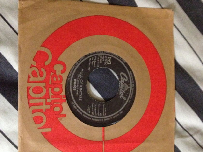 Wings - Mull Of Kintyre/Girls School 45 NM Black Capitol Label