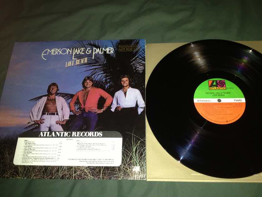 ELP - Love Beach Promo Vinyl  LP  NM Atlantic Records