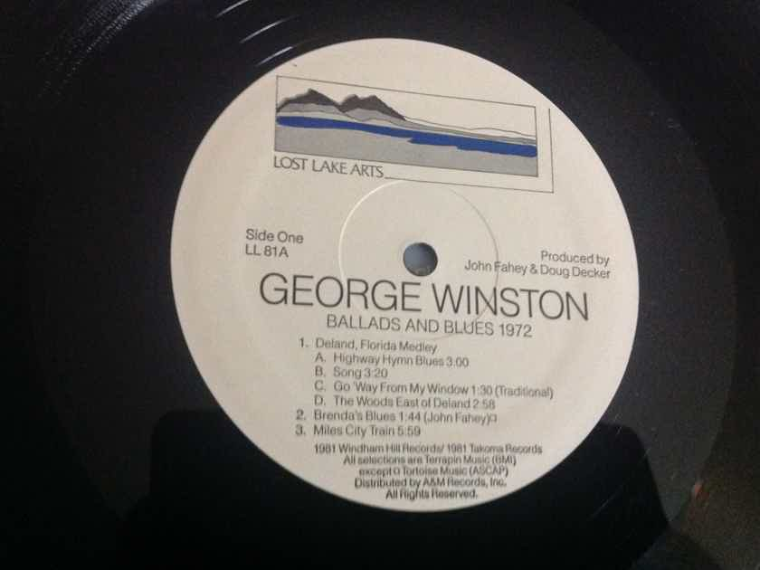 George Winston - Ballads And Blues 1972 Quiex Audiophile Vinyl LP NM